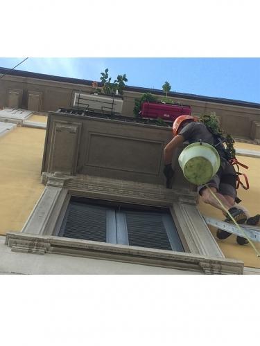 Pulizia vetri in quota Milano